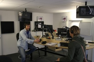 Med journalist & radiovært Jens Kristian Steen Thonbo i Nova FM-studiet i Magstræde, København